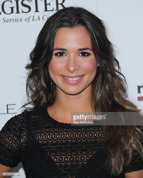 Actress Josie Loren attends Matt Leinart foundation's 8th annual celebrity bowl for charity event at Lucky Strikes on July 17 2014 in Hollywood...