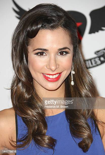 Actress Josie Loren attends the 19th Annual Race To Erase MS 'Glam Rock To Erase MS' event at the Hyatt Regency Century Plaza on May 18 2012 in...