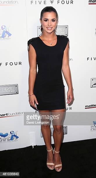 Actress Josie Loren attends the Matt Leinart Foundation's 9th Annual Celebrity Bowl for Charity at Lucky Strike Bowling Alley on July 16 2015 in...
