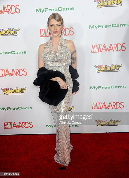 Actress Joslyn James arrives at the 2017 Adult Video News Awards held at the Hard Rock Hotel Casino on January 21 2017 in Las Vegas Nevada