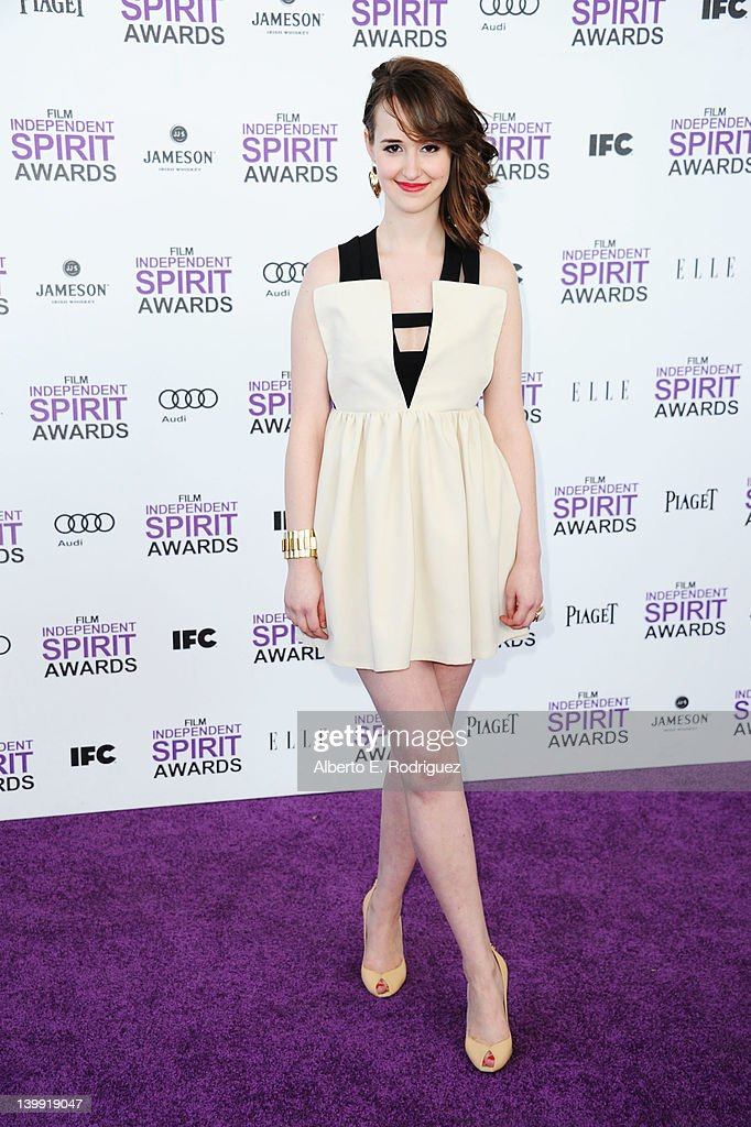 Actress Joslyn Jensen arrives at the 2012 Film Independent Spirit Awards on February 25, 2012 in Santa Monica, California.