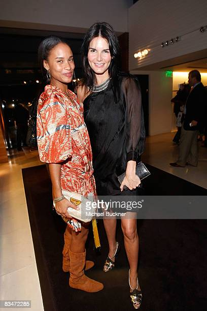 Actress Joy Bryant and actress Angie Harmon attend the Vogue and Step Up Women's Network Evening of Fashion at Bally on October 28 2008 in Beverly...