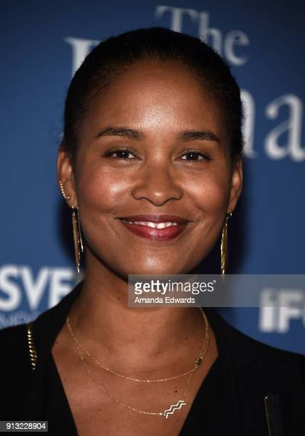 Actress Joy Bryant arrives at the premiere of IFC Films' 'The Female Brain' at the ArcLight Hollywood on February 1 2018 in Hollywood California