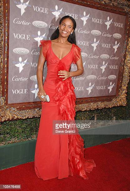 Actress Joy Bryant arrives to The Art of Elysium 10th Anniversary Gala at Vibiana on January 12, 2008 in Los Angeles, California.