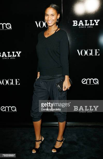 Actress Joy Bryant attends the Bally and Vogue celebrate its new creative director Brian Atwood with an instore cocktail evening with The...