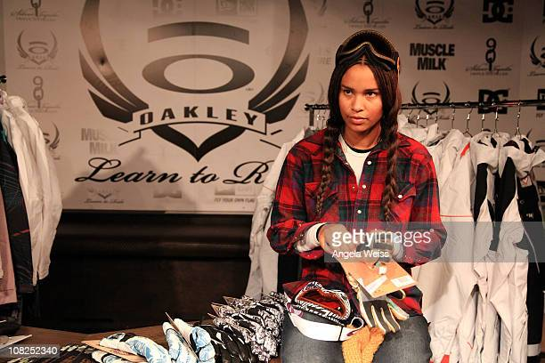 Actress Joy Bryant attends the Oakley Learn to Ride Fueled by Muscle Milk and Lounge on January 22 2011 in Park City Utah