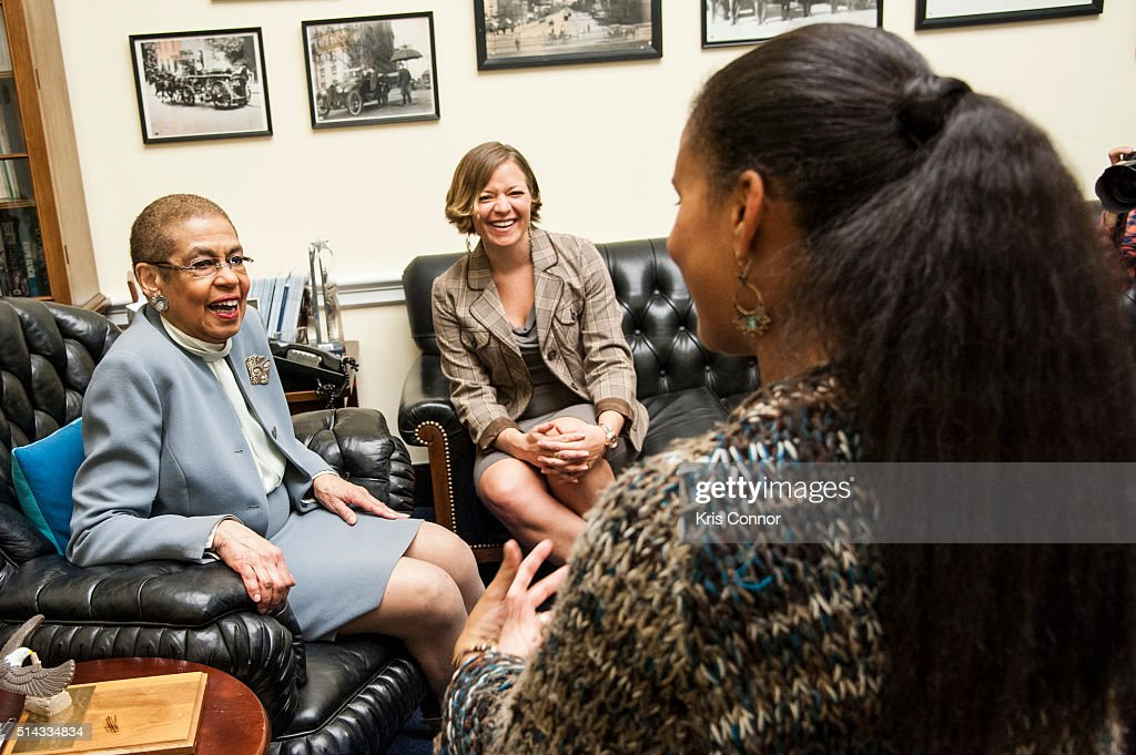 Joy Bryant Meets Congresswoman Eleanor Holmes Norton