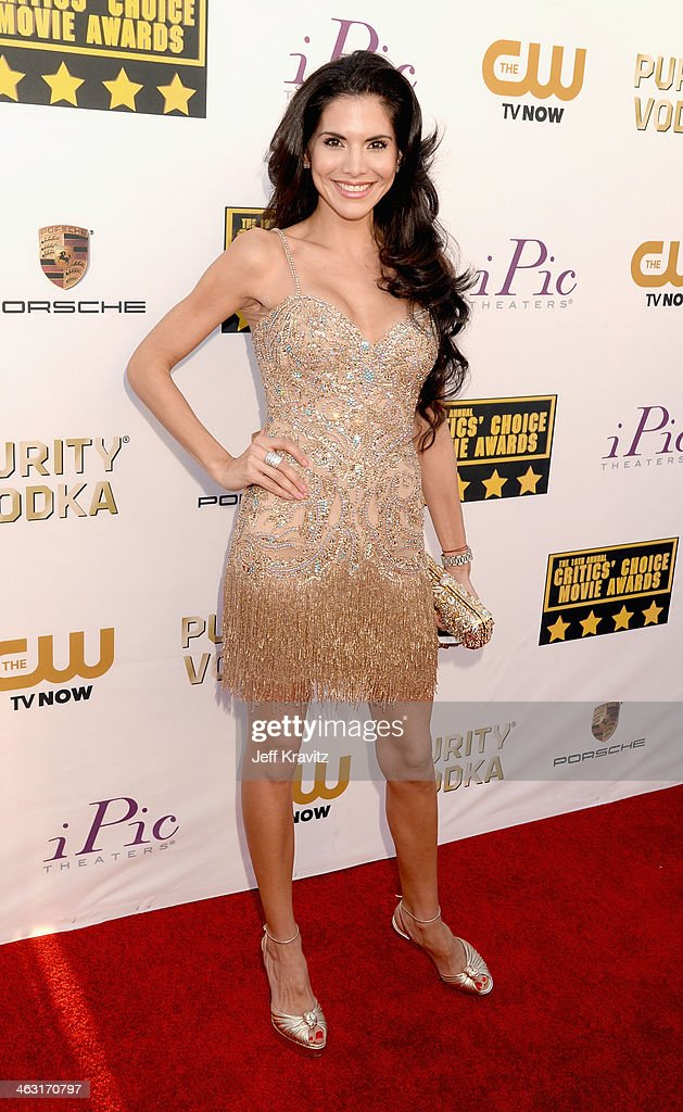 Actress Joyce Giraud attends the 19th Annual Critics' Choice Movie Awards at Barker Hangar on January 16, 2014 in Santa Monica, California.