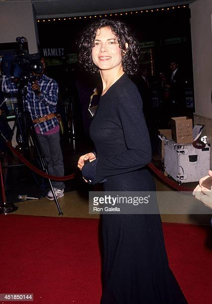Actress Joyce Hyser attends the Greedy Westwood Premiere on February 22 1994 at the Mann Bruin Theatre in Westwood California