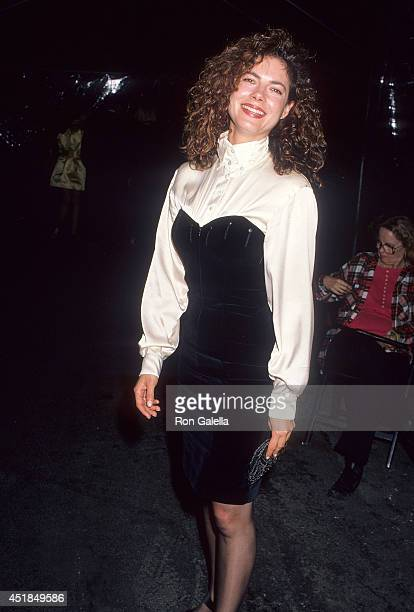 Actress Joyce Hyser attends Vanity Fair Magazine's Just Say Yes Party to Benefit the Phoenix House on March 22 1990 at Culver Studios in Culver City...
