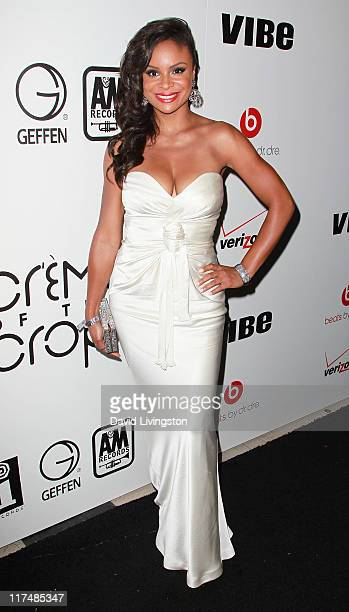 Actress Joyful Drake attends the 5th anniversary 'Creme of the Crop' post BET Awards Dinner Celebration at Mr Chow on June 26 2011 in Beverly Hills...