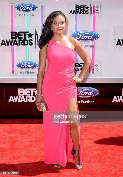 Actress Joyful Drake attends the BET AWARDS '14 at Nokia Theatre LA LIVE on June 29 2014 in Los Angeles California
