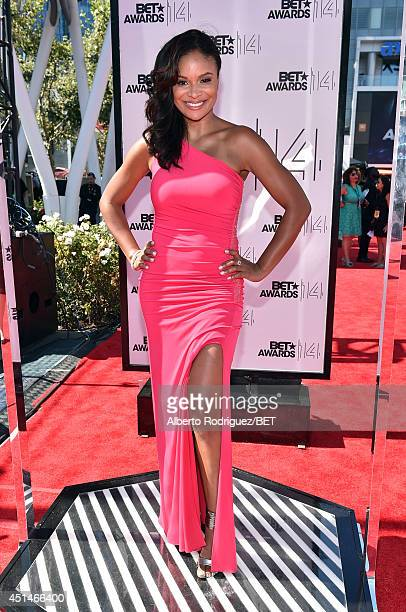 Actress Joyful Drake attends the Pantene Style Stage during BET AWARDS '14 at Nokia Theatre LA LIVE on June 29 2014 in Los Angeles California