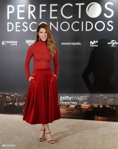 Actress Juana Acosta attends 'Perfectos Desconocidos' photocall at the Hesperia Hotel on November 28 2017 in Madrid Spain
