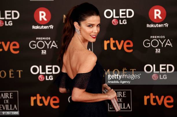 Actress Juana Acosta attends the 32th edition of the Goya Awards ceremony in Madrid Spain on February 04 2018