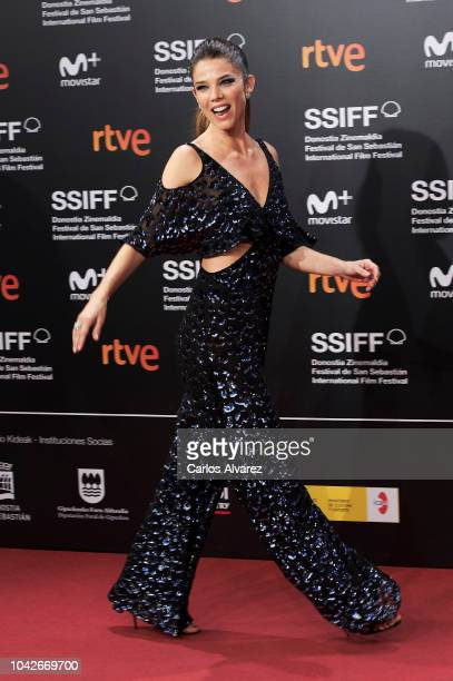 Actress Juana Acosta attends the 'Gigantes' premiere during the 66th San Sebastian International Film Festival on September 28 2018 in San Sebastian...