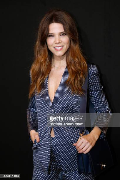 Actress Juana Acosta attends the Giorgio Armani Prive Haute Couture Spring Summer 2018 show as part of Paris Fashion Week on January 23 2018 in Paris...