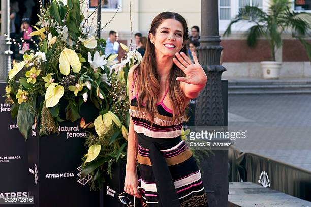 Actress Juana Acosta is seen during the photocall of Acantilado at the 19th Malaga Spanish Film Festival on April 25 2016 in Malaga Spain