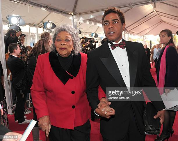 Actress Juanita Moore and guest arrive at the TCM Classic Film Festival's A Star Is Born held at Mann's Chinese Theater on April 22 2010 in Hollywood...