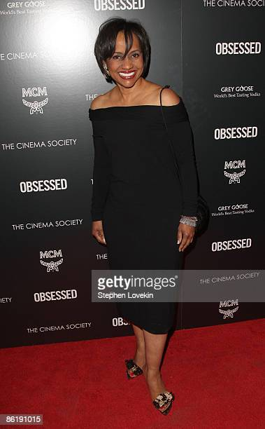 Actress Judge Glenda Hatchett attends the premiere of Obsessed presented by The Cinema Society MCM at the School of Visual Arts on April 23 2009 in...