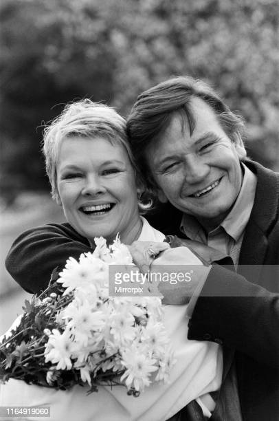 Actress Judi Dench and her husband the actor Michael Williams 10th April 1987