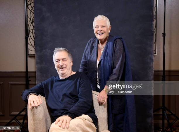 """Actress Judi Dench and Stephen Frears of """"Victoria and Abdul"""" are photographed for Los Angeles Times on September 20, 2017 in Los Angeles,..."""
