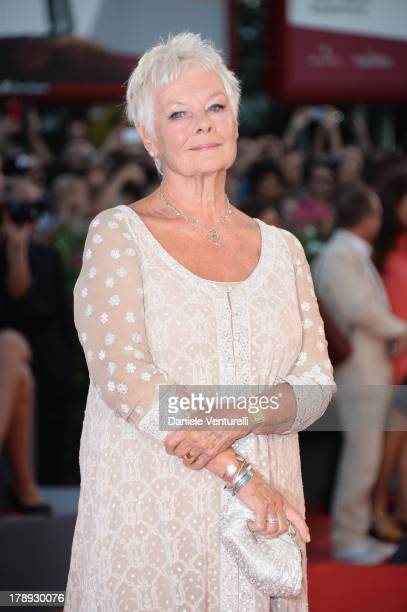 """Actress Judi Dench attends """"Philomena"""" Premiere during the 70th Venice International Film Festival at Sala Grande on August 31, 2013 in Venice, Italy."""