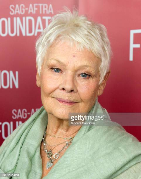 Actress Judi Dench attends SAGAFTRA Foundation Conversations screening of Victoria Abdul at SAGAFTRA Foundation Screening Room on November 28 2017 in...