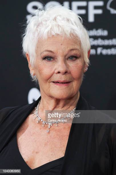 Actress Judi Dench attends the 'Red Joan' premiere during the 66th San Sebastian International Film Festival at the Kursaal Palace on September 25...