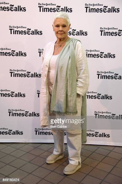 Actress Judi Dench attends TimesTalks at BMCC Tribeca PAC on September 18 2017 in New York City