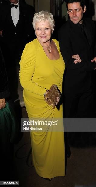 Actress Judi Dench departs from the after party for the world premiere of Nine on December 3 2009 in London England