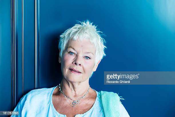 Actress Judi Dench is photographed for Self Assignment on August 31 2013 in Venice Italy
