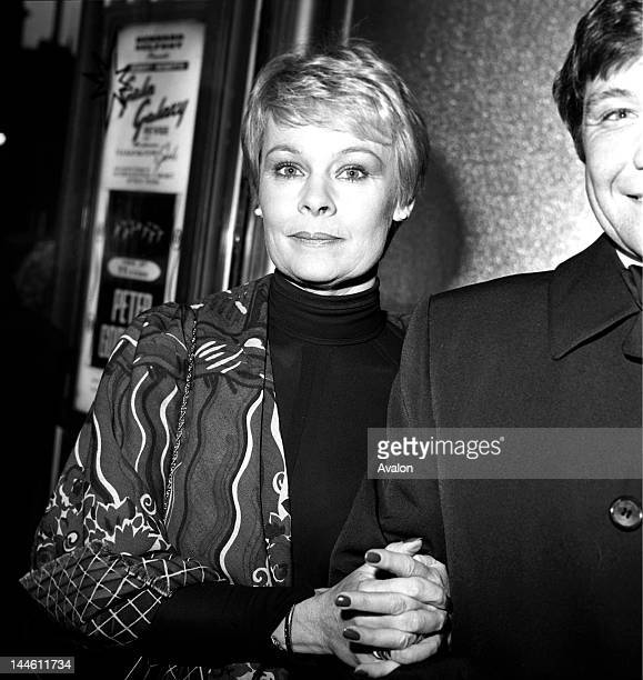 Actress Judi Dench with husband Michael Williams photographed at the BAFTA Awards in London in March 1982