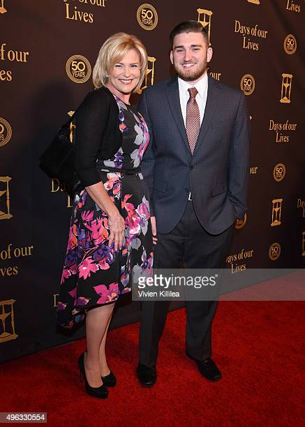 Actress Judi Evans and Austin Luciano attend the Days Of Our Lives' 50th Anniversary Celebration at Hollywood Palladium on November 7 2015 in Los...