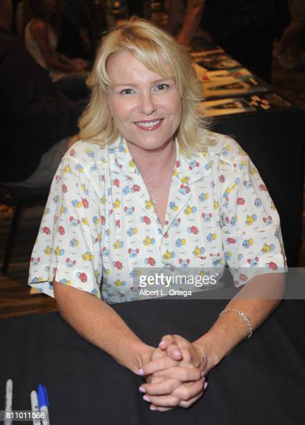 Actress Judi Evans signs autographs at The Hollywood Show held at Westin LAX Hotel on July 8 2017 in Los Angeles California
