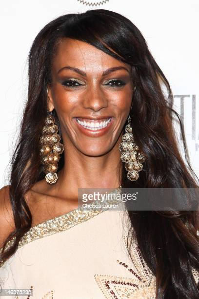Actress Judi Shekoni arrives at Los Angeles Confidential Magazine's summer issue release party at Palihouse Holloway on June 14 2012 in West...