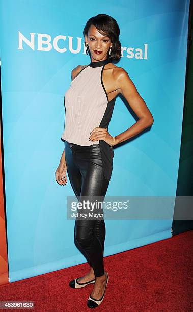 Actress Judi Shekoni attends Day 2 of the NBCUniversal press tour 2015 at the Beverly Hilton Hotel on August 13 2015 in Beverly Hills California