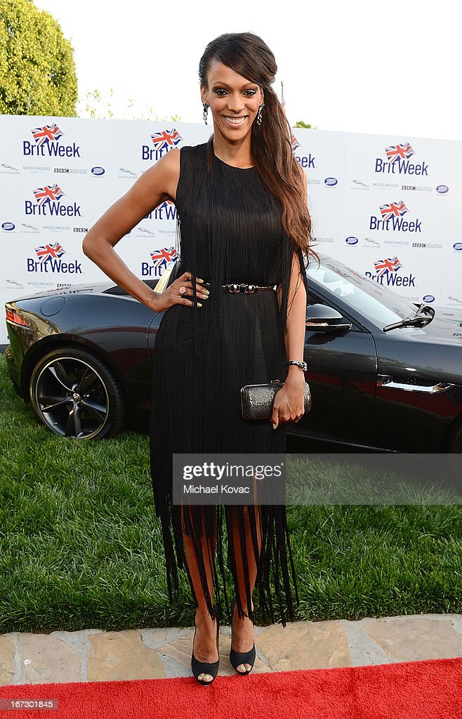 Actress Judi Shekoni attends the BritWeek Los Angeles Red Carpet Launch Party with Official Vehicle Sponsor Jaguar on April 23, 2013 in Los Angeles, California.