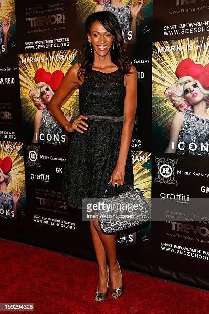 Actress Judi Shekoni attends the Markus Indrani ICONS Book Launch Party at Merry Karnowsky Gallery on January 10 2013 in Los Angeles California