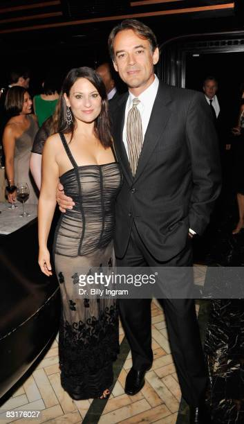 Actress Judie Aronson and Actor Jon Lindstrom arrive at the Damages Post Emmy Party at the Foxtail on September 21 2008 in West Hollywood California