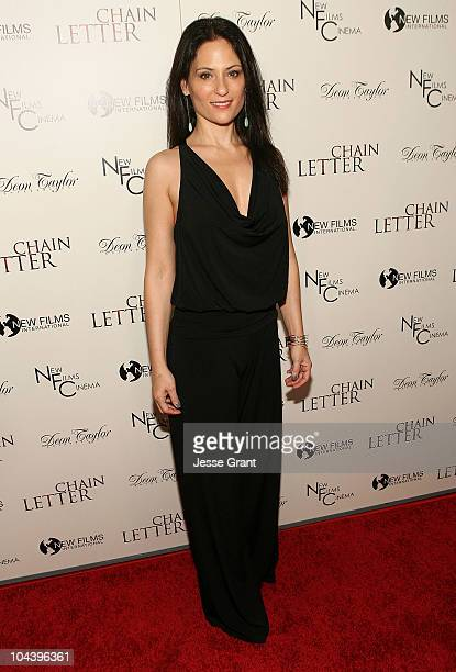 Actress Judie Aronson arrives at the World Premiere of Chain Letter at the ArcLight Hollywood on September 23 2010 in Hollywood California