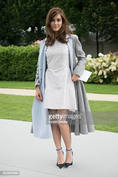 Actress Judit Bardos wearing all Dior day 2 of Paris Haute Couture Fashion Week Autumn/Winter 2014 on July 7 2014 in Paris France