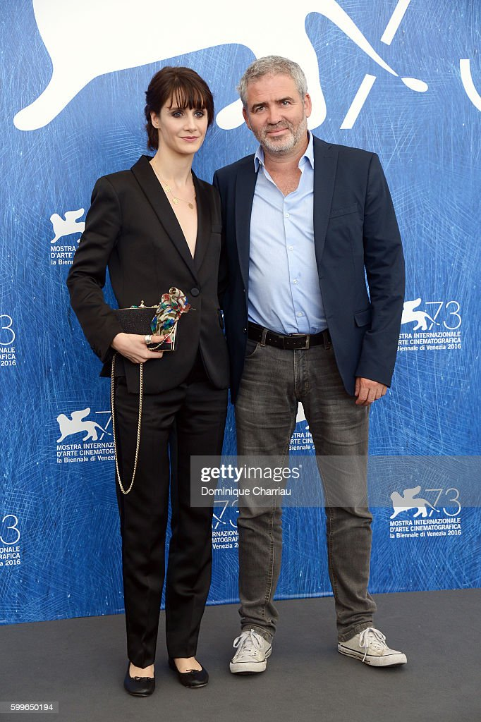 Actress Judith Chemla and director Stephane Brize attend a photocall for 'A Women's Life' during the 73rd Venice Film Festival at on September 6, 2016 in Venice, Italy.