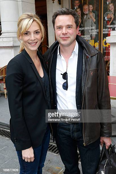 Actress Judith El Zein and Actor Guillaume de Tonquedec both from the movie 'Le Prenom' attend the delivery of the medal of the Legion of Honor to...