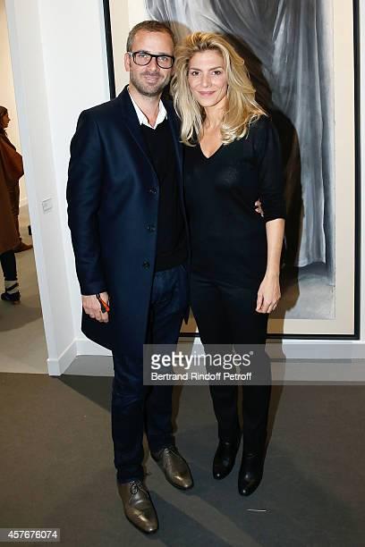 Actress Judith El Zein and Daniel Bittmann attend the FIAC 2014 International Contemporary Art Fair Official Opening at Le Grand Palais on October 22...