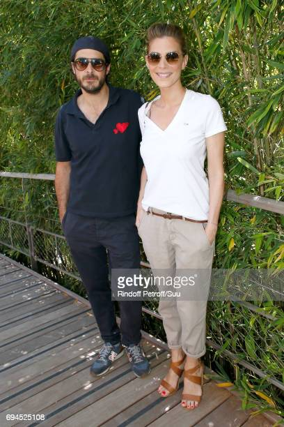 Actress Judith El Zein and guest attend the Women Final of the 2017 French Tennis Open Day Fourteen at Roland Garros on June 10 2017 in Paris France