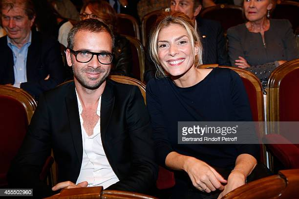 Actress Judith El Zein and guest attend 'Un diner d'adieu' Premiere Held at Theatre Edouard VII on September 15 2014 in Paris France