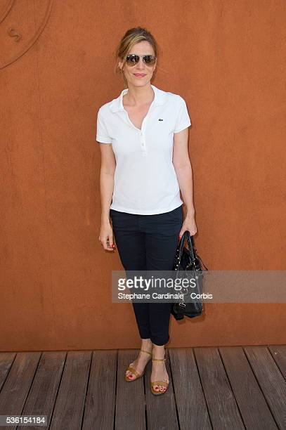 Actress Judith El Zein attends the 2015 Roland Garros French Tennis Open Day Fourteen on June 6 2015 in Paris France