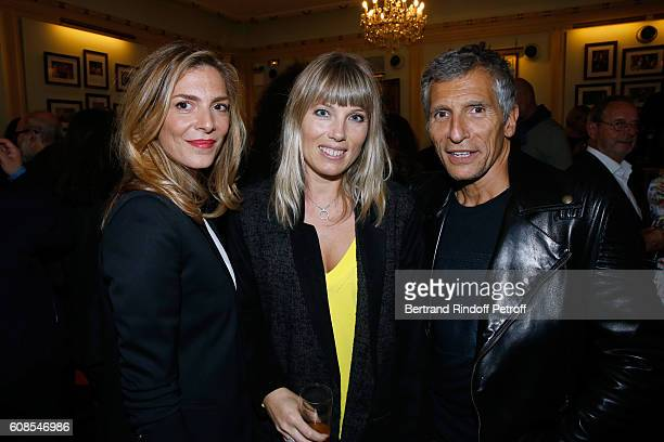 Actress Judith El Zein TV Presenter Nagui with his wife actress Melanie Page attend the 'Tout ce que vous voulez' Theater Play at Theatre Edouard VII...