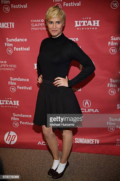 """Actress Judith Godr��che attends """"The Overnight"""" premiere at the 2015 Sundance Film Festival"""
